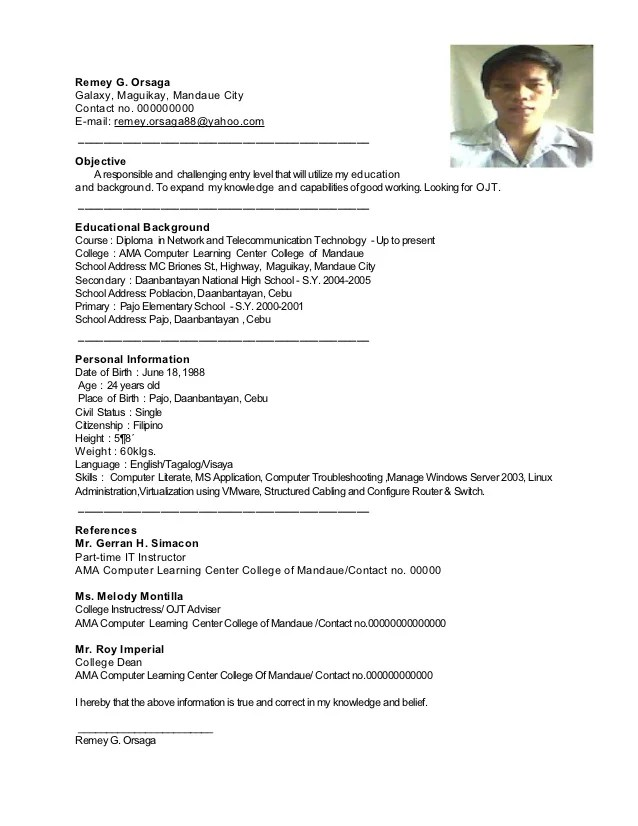 sle resume for rotc aspiring officers choose exles