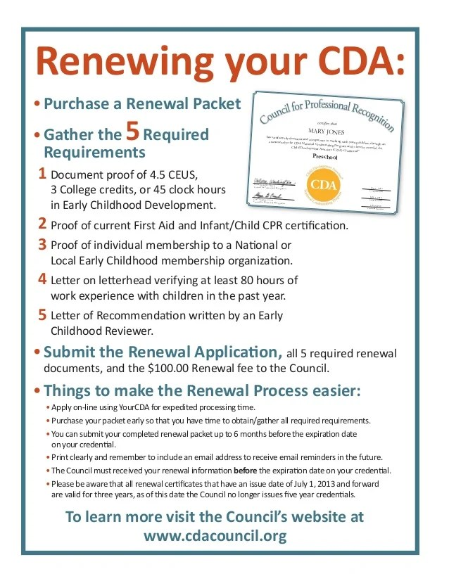 cda renewal letter of recommendation form