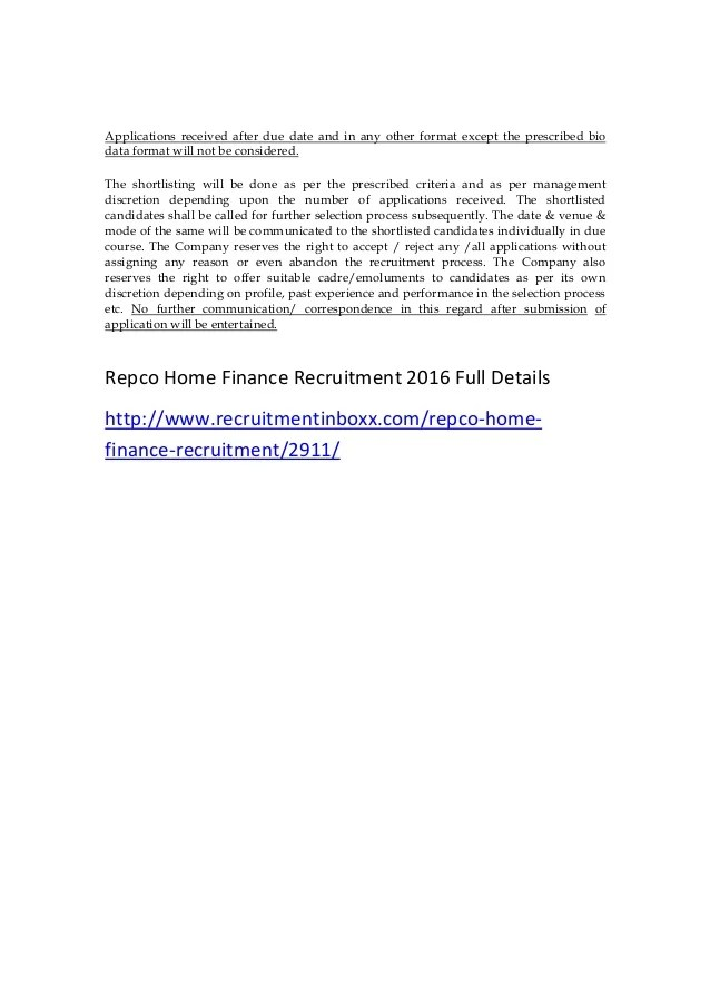 Live Chennai Jobs Jobs Jobs In India Recruitment Repco Home Finance Recruitment 2016 Clerks Manage Jobs
