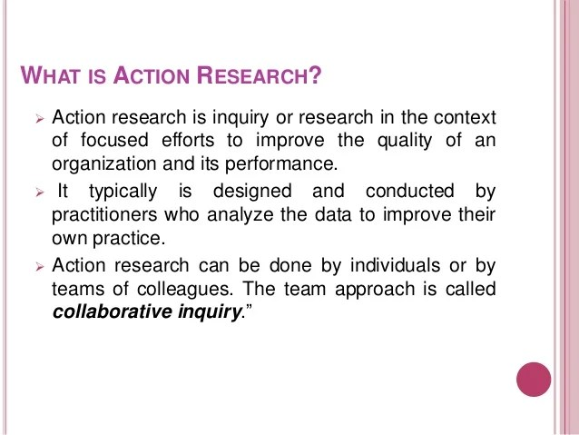 Action Research
