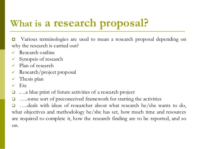 research project proposal outline