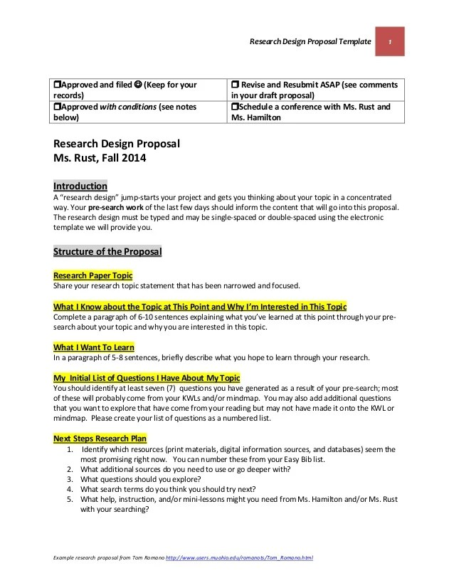 research proposal design The research proposal template this document has been set up to assist students in preparing the text for their research proposal it is not intended.