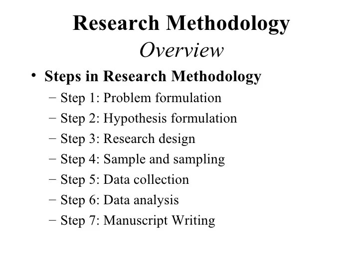 Dissertation Examples Sample Thesis Research Proposal Research Methodology For Behavioral Research