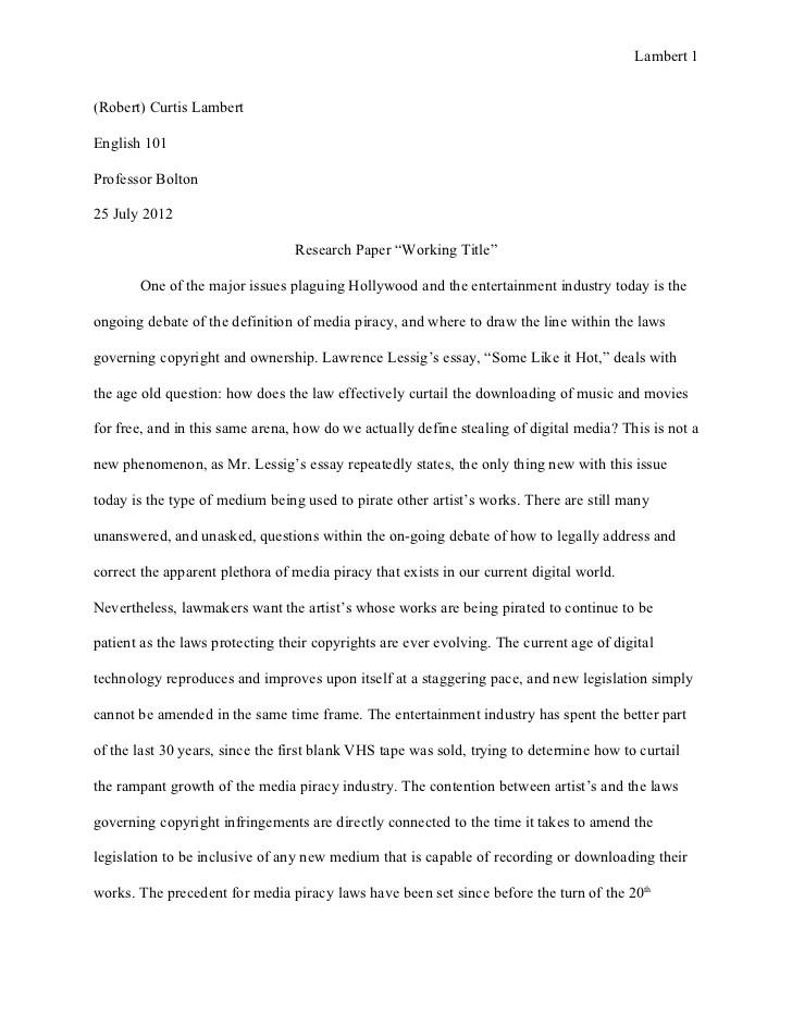 Mla Format Example Essay 2012