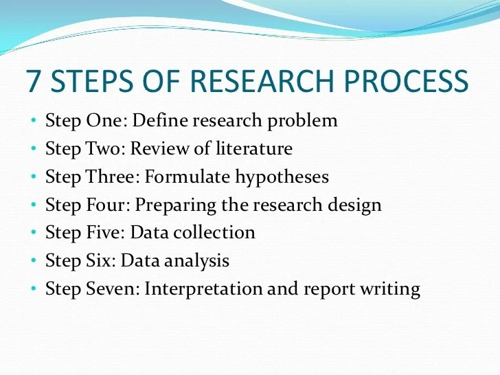 Steps of report writing in research
