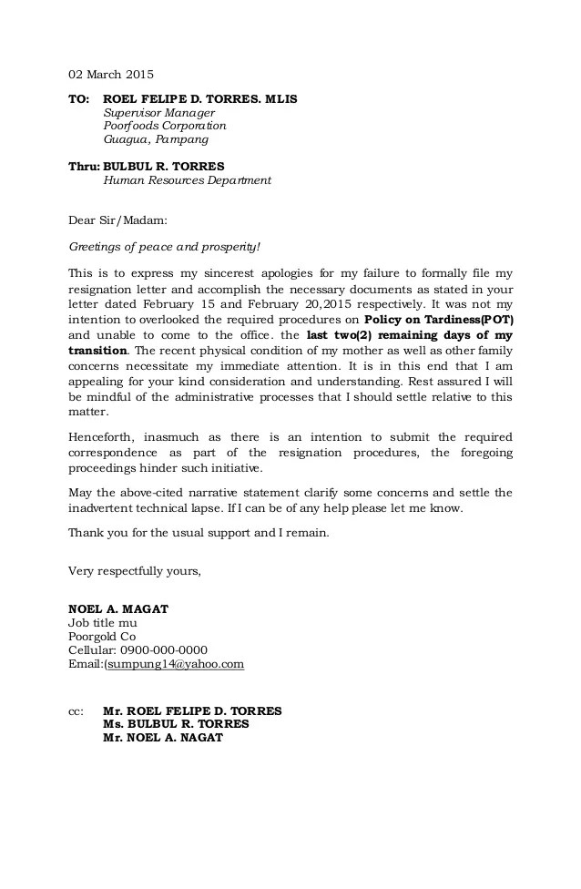 proper resignation letter format - Josemulinohouse