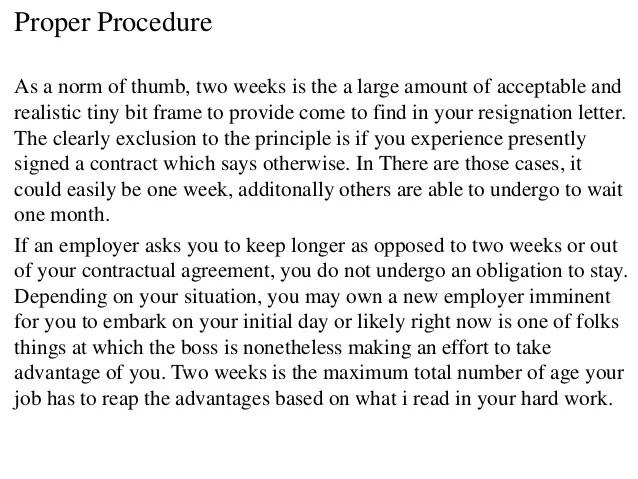 two week resignation letter - Onwebioinnovate - 2 week resignation letter