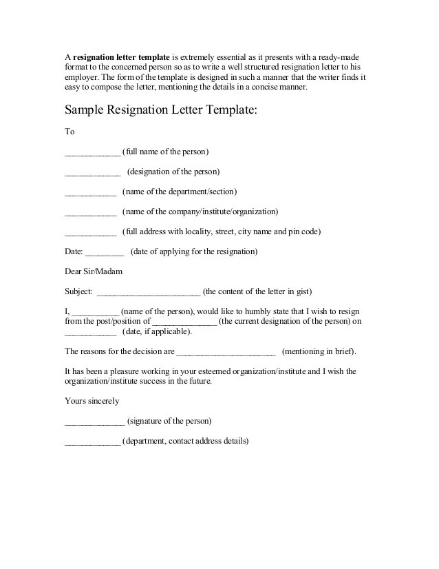 Resignation Letter Vacation Time | Cover Letter Sample For Job