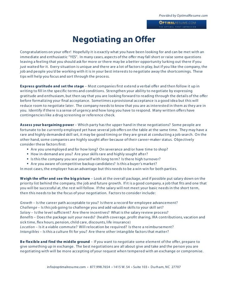 Job Offer Letter Negotiating Salary Best Resumes Curiculum Vitae