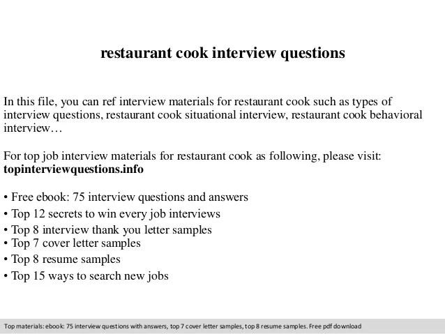 restaurant cook resume - Josemulinohouse - resume for cooks
