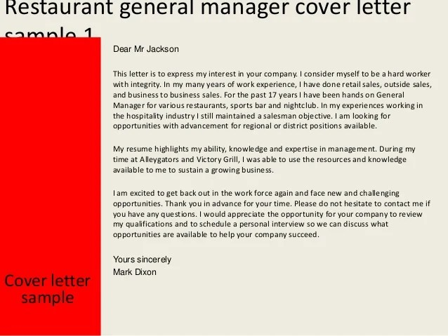 restaurant industry resume sample