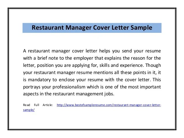 cover letter examples for assistant manager