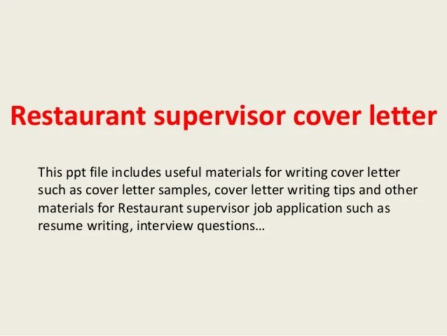 Cover Letter For Resume Restaurant This Is A Resume And Cover Letter That Work Ask A Manager Restaurant Supervisor Cover Letter