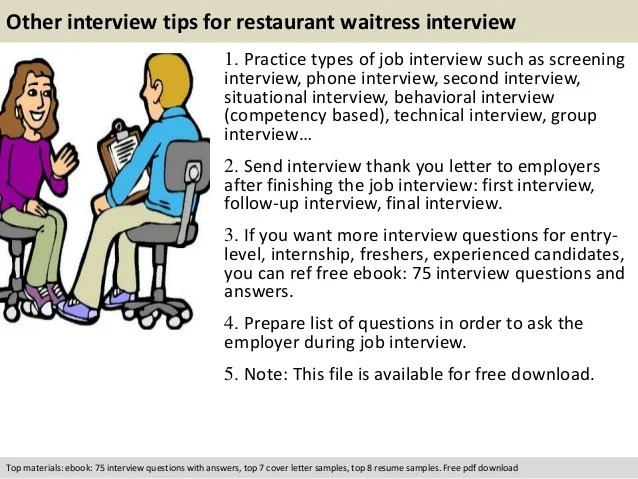 Interview Questions To Ask Servers - Chops Jobs - Culinary
