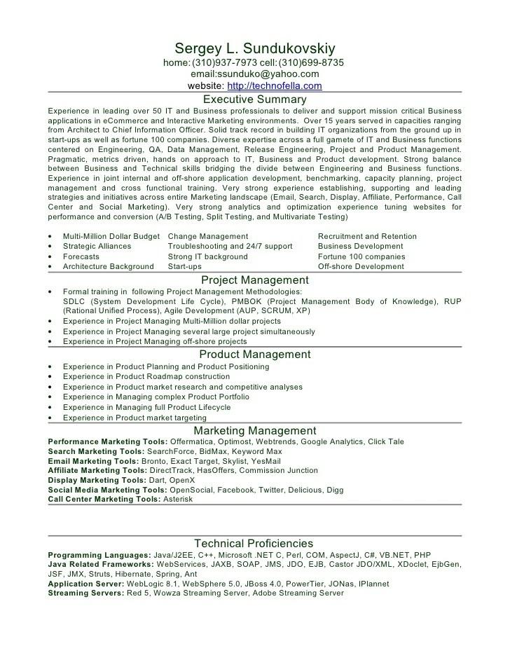 job preferences in resume sample