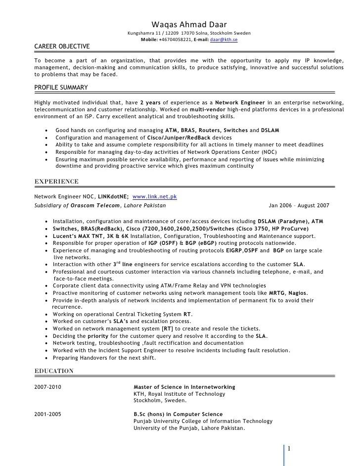 ccna resume - Onwebioinnovate - ccna resume