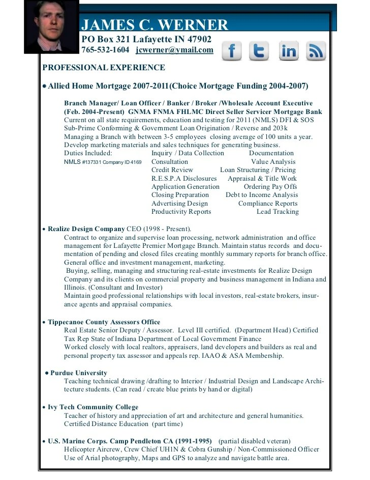 mortgage branch manager resume sample