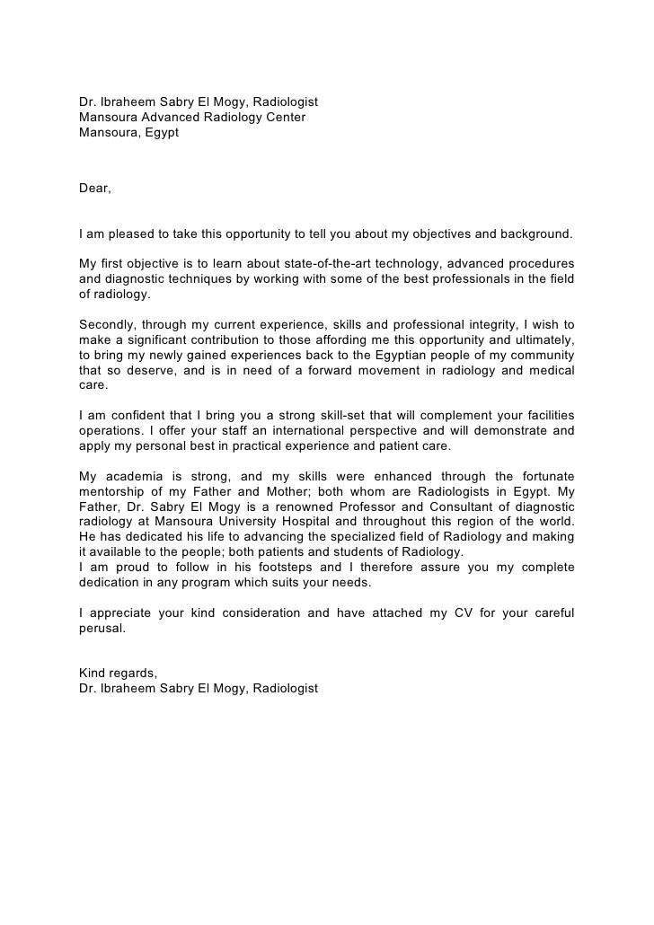 Radiologist Cover Letter Vorte