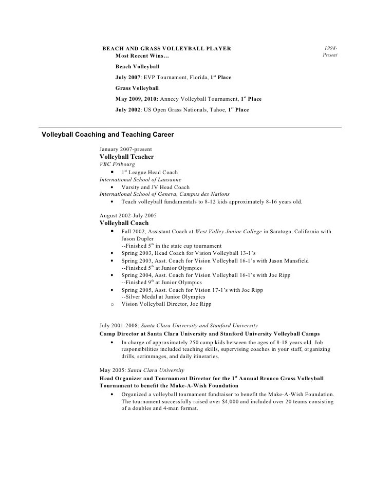 Wrestling Coach Sample Resume resume template coaching high school