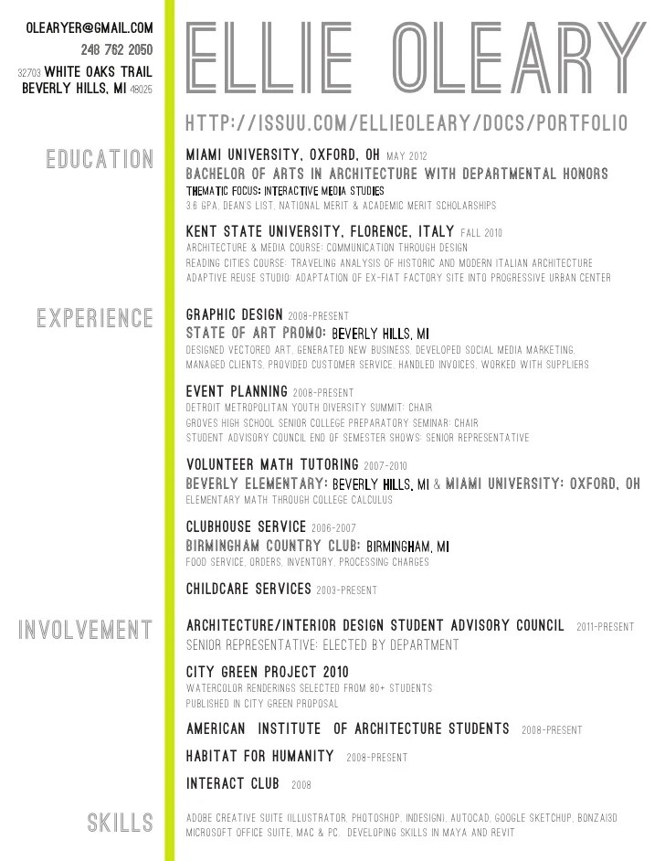 Architect Resume  Ex