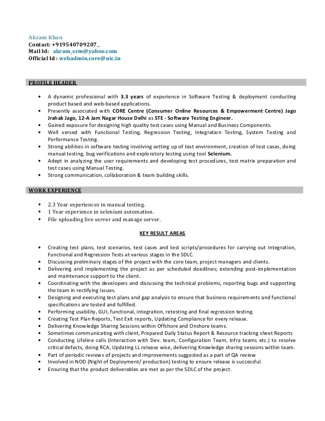 test engineer resume - Onwebioinnovate - Engineer Resume