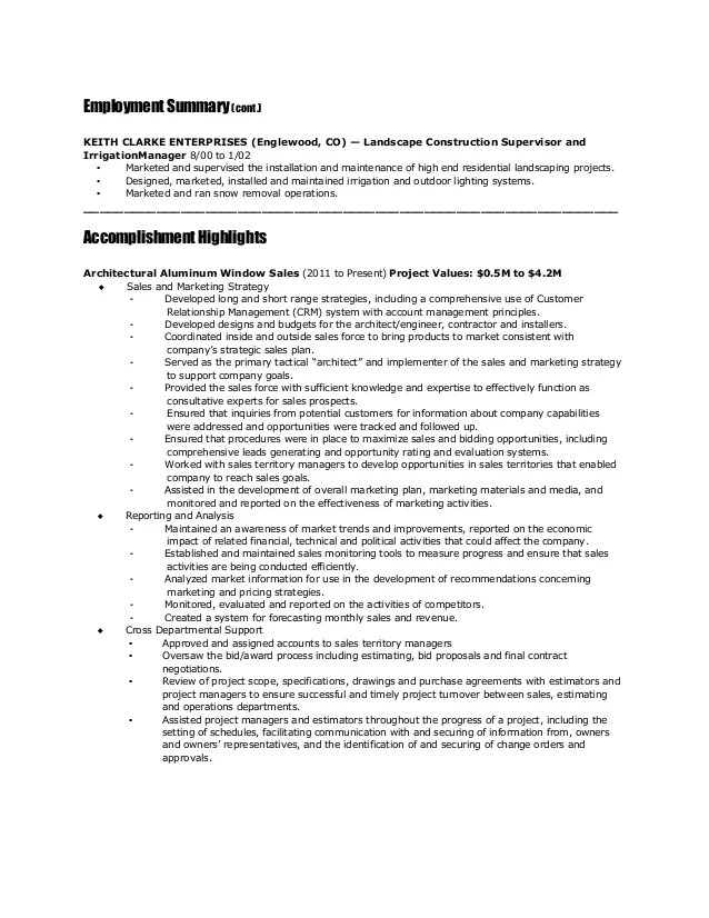 net sample resume for maintenance projects