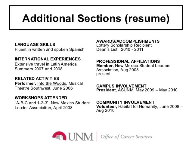 additional skills to list on resume - Ozilalmanoof