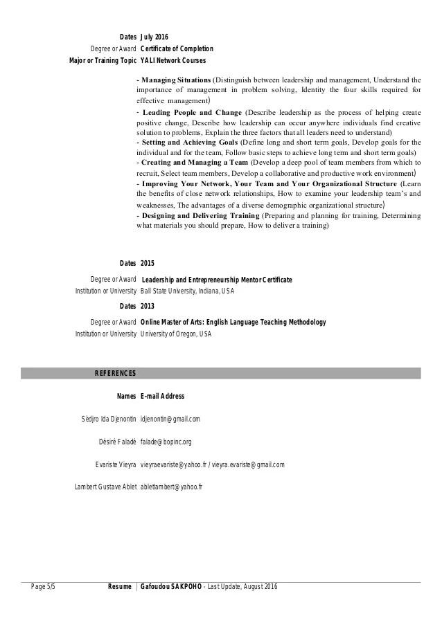 resume translation french english
