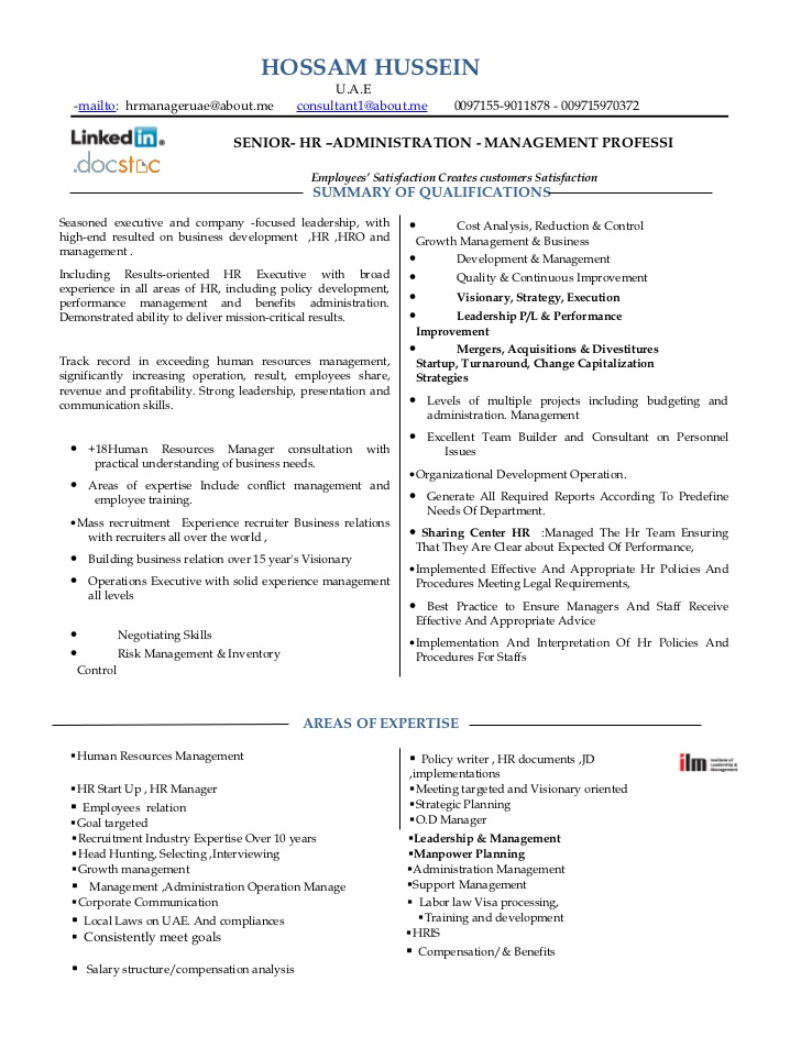 hr manager resume 04052017