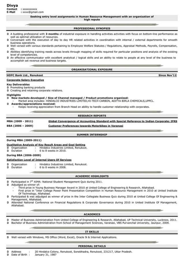 online resume maker for fresher