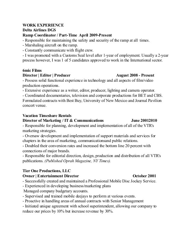 resume sales and marketing - zrom