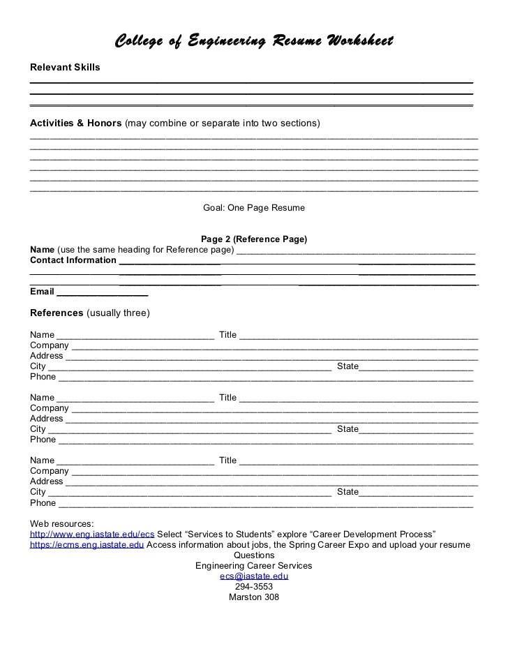 resume builder worksheet - Romeolandinez - resume building worksheet