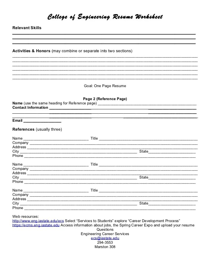 How To Include References On A Resume Wikihow Resume Worksheet