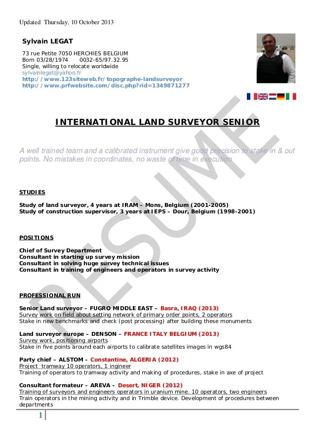 land surveyor resume sample - Boatjeremyeaton - resumes samples 2013