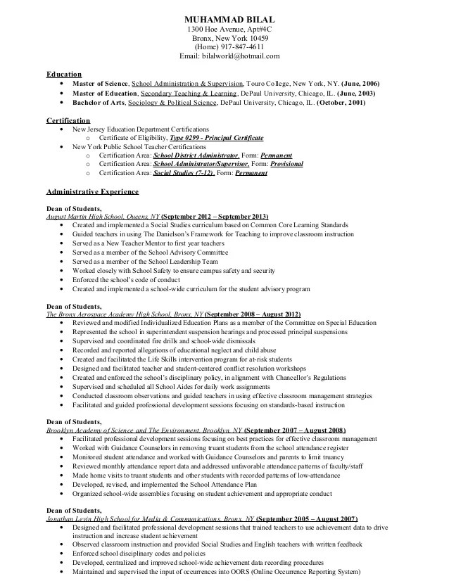 certifications section on resume example