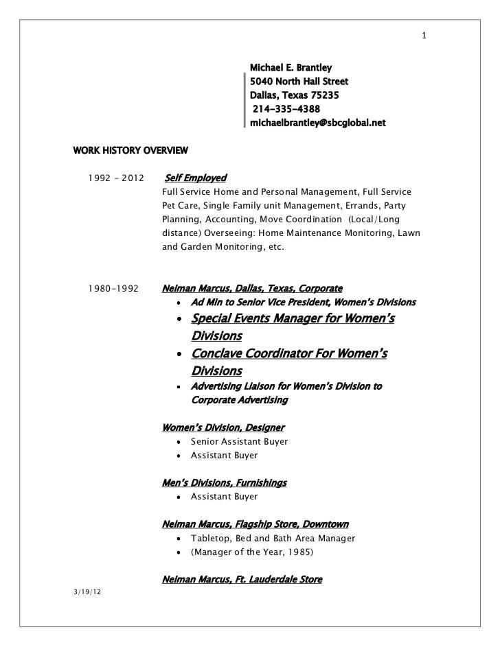 pet resume example