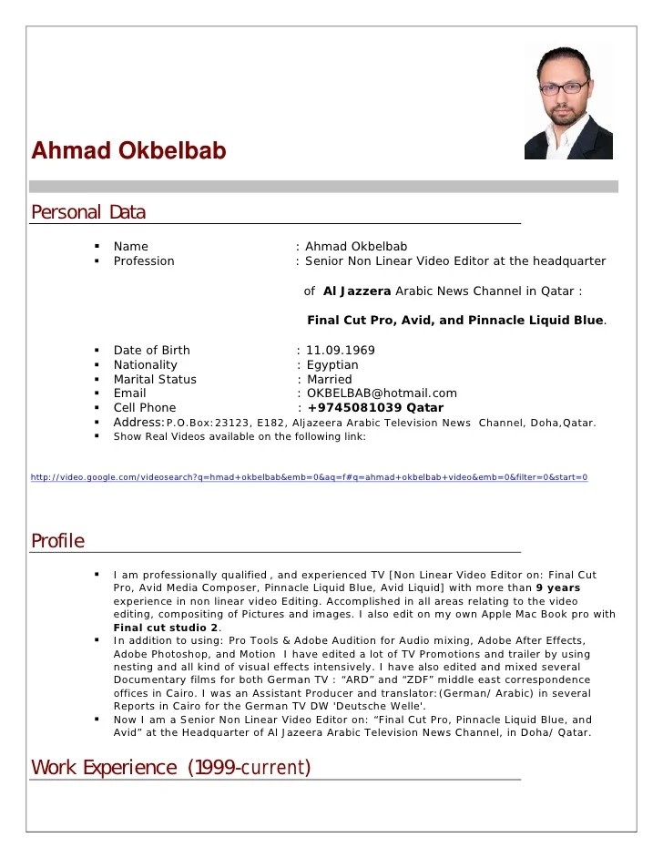 Cv Cover Letter In Arabic | Accounts Manager Resume Model