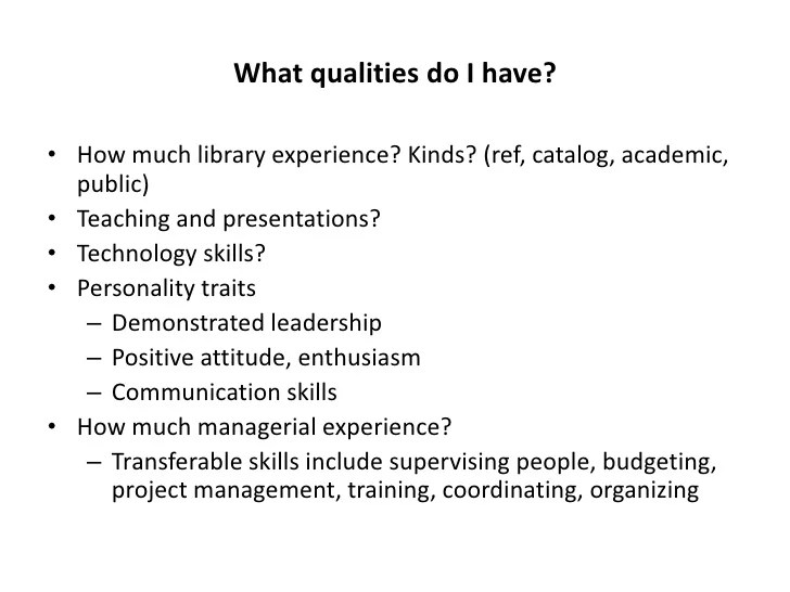 good qualities for a resumes - Tutlinayodhya