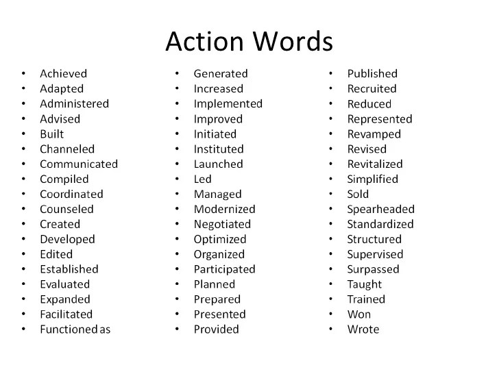 resume power words for sales 185 powerful verbs that will make your resume awesome all lycos