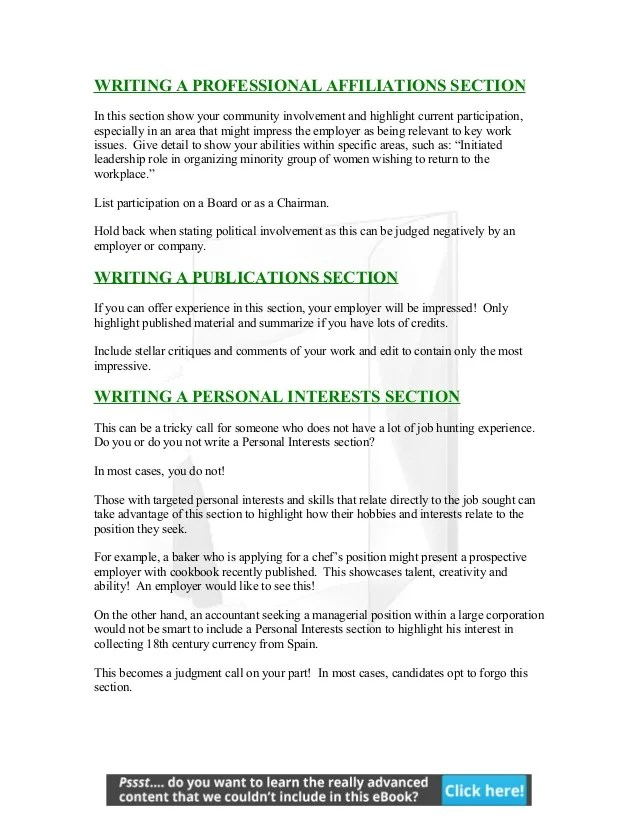 when and how to list personal interests on your resumes - Jose - resume personal interests