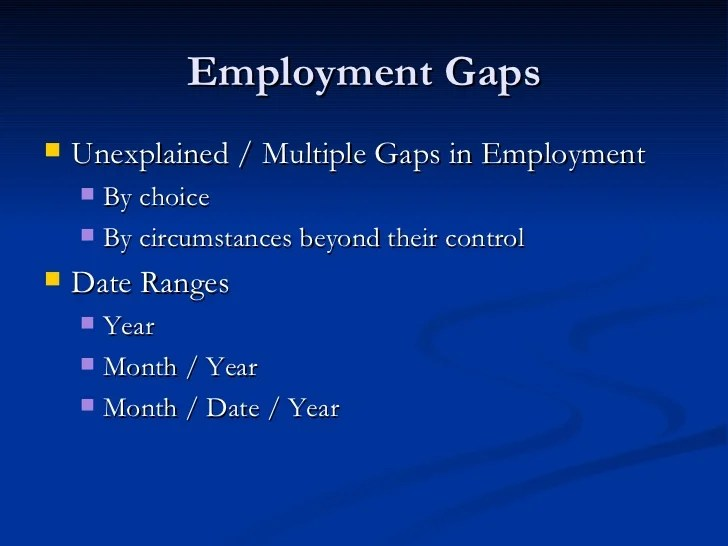 gaps in employment on resumes - Apmayssconstruction