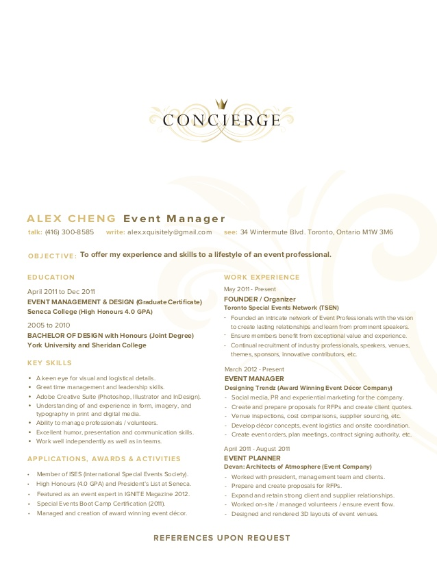Concierge Resume | Resume Format Download Pdf
