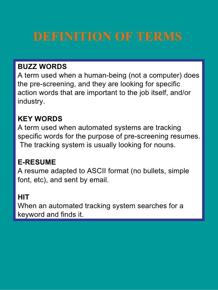 resume screening definition