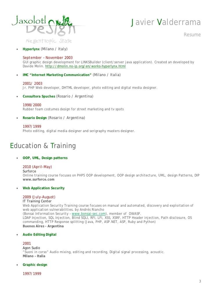 gui resume sample developer