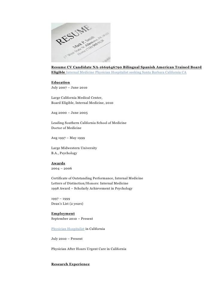 medicine resume - Jolivibramusic - physician resume samples