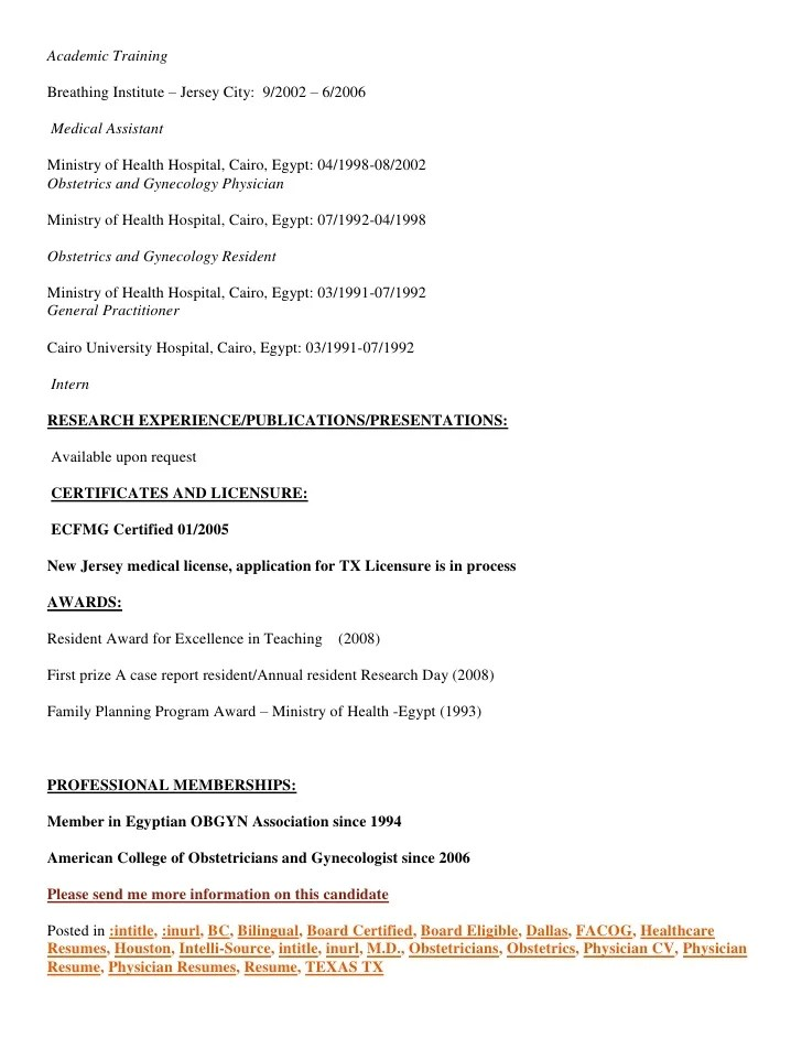 ob gyn resume - Funfpandroid