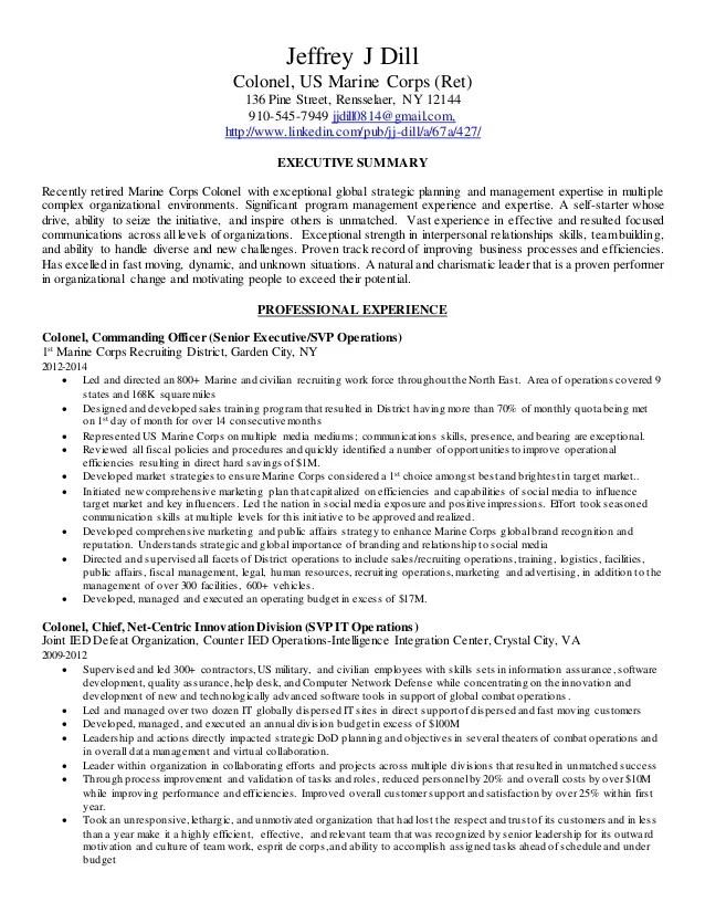 usmc resume - Onwebioinnovate
