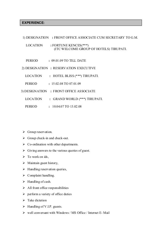 Resume Objective Management Resume Objective Resume For Front Office Associatedocx1