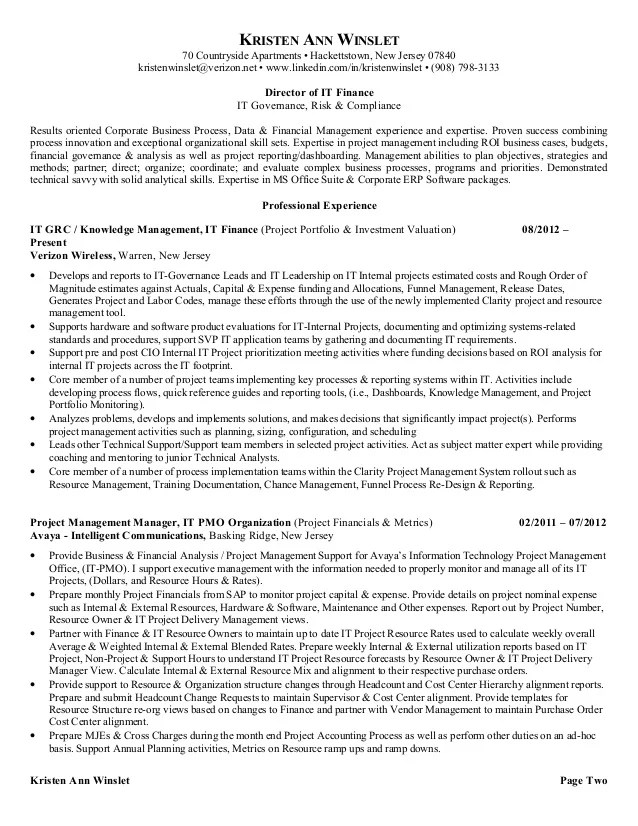 Sample Resume Pmo Analyst | CV Writing Services