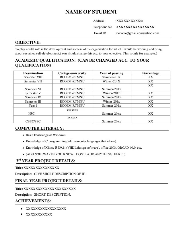 High School Student Resume Template Tips Resume Job Resume Samples  Curriculum Vitae Examples For Graduate School  Tips For Resume